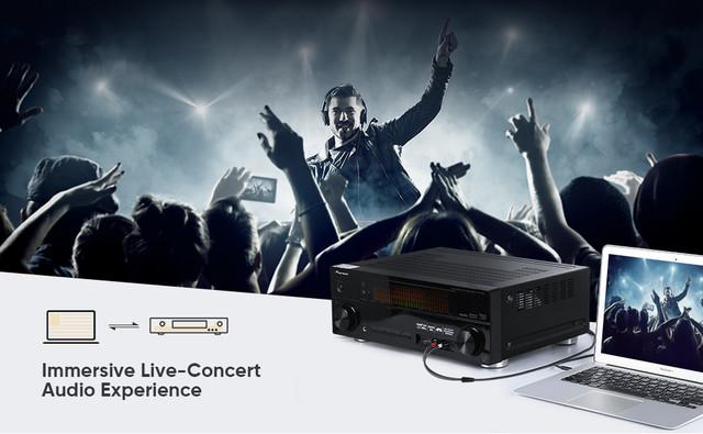 Межкомпонентный аудио кабель 2 RCA 3.5 Jack AUX Hi-Fi Ugreen AV116 1м 2м