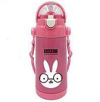 Детский термос-поилка STENSON Animal 500 ml Кролик, КОД: 1250008