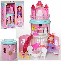 Домик Замокдля маленьких куколс мебелью и аксессуарами, дом для кукол типа лол 10 см, 0588-4
