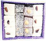 Рахат лукум 300 гр,TATLAN  фисташки, фундук, миндаль ,  турецкие сладости, фото 4