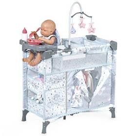 Манеж для куклы 53029 с каруселью, стульчиком для кормления, пеленальным столиком, плюшевым зайчиком