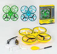 Квадрокоптер с брелком, управление руками, датчик гравитации, LED подсветка, 3 вида