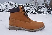 Мужские зимние ботинки Dockers оригинал натуральный нубук мех 47