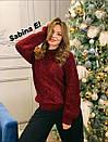 Женский вязаный свитер с шерстью и люрексом, узоры на кофте 7ddet780, фото 6