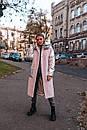 Женское Пальто с шерстью и вставками стеганной металлизированной плащевки 14kur220, фото 3