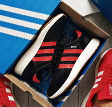 Мужские кроссовки Adidas Iniki Runner Boost Black/Red, фото 2