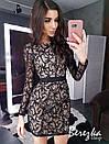 Платье по фигуре из сетки с длинным рукавом и длиной выше колена 66plt669E, фото 3