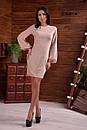 Платье прямое из люрекса с длинным рукавом - фонариком 55plt678, фото 2