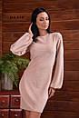 Платье прямое из люрекса с длинным рукавом - фонариком 55plt678, фото 3