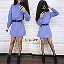 Вязаное свободное платье туника с высоким воротником и длинным рукавом 9plt679, фото 3