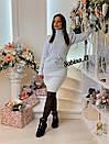 Вязаное платье с кулиской на талии и высоким воротником 7plt683, фото 7