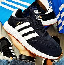 Мужские кроссовки Adidas Iniki Runner Boost Navy Blue/White, фото 2