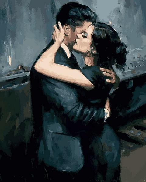 Картина по номерам Чувственные обьятья, 40x50 см., Mariposa