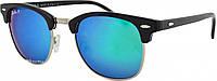 Солнцезащитные очки Ray Ban Clubmaster 3016 C6 Polar поляризационные сине-зеленые (реплика)