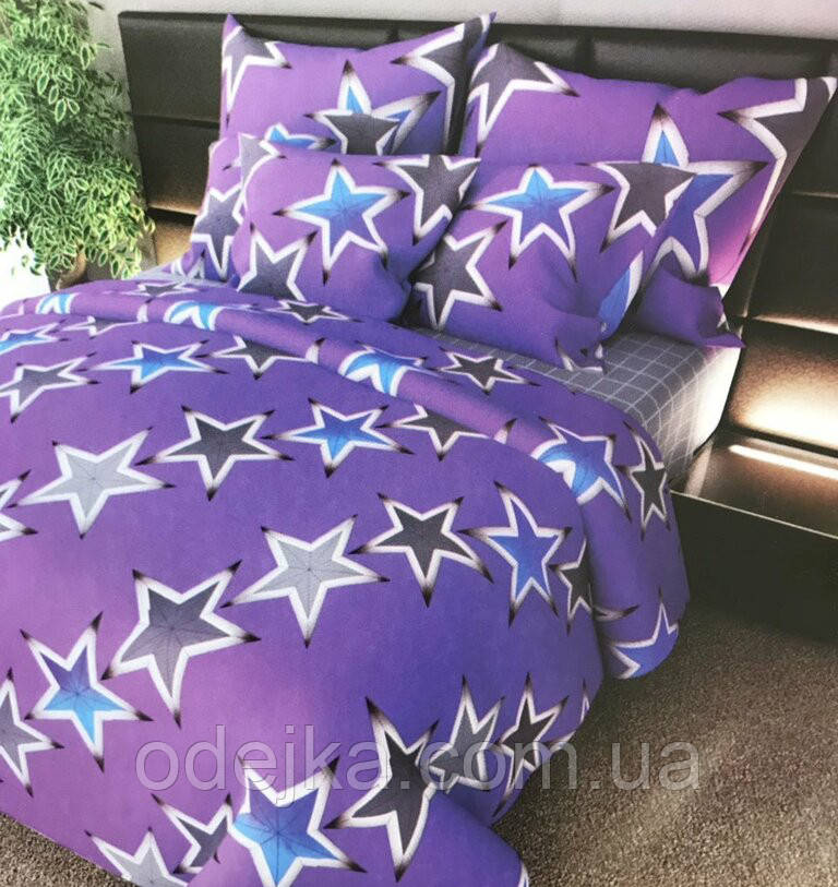 Двуспальный комплект постельного белья евро 200*220 хлопок  (12805) TM KRISPOL Украина