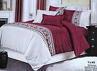 Комплект постельного белья двуспальный Евро Oriental Bordo Хлопок 100%