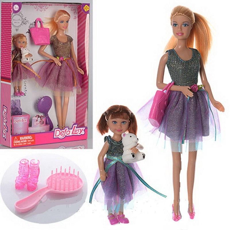 """Лялька 29см """"Defa Lucy"""" 8304 з донькою 13см і аксесуарами Дефа"""