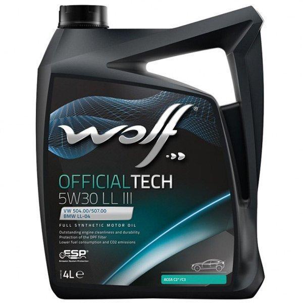Моторное масло WOLF OFFICIALTECH 5W-30 LL III 4л