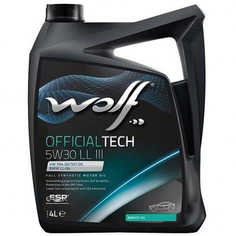 Моторное масло WOLF OFFICIALTECH 5W-30 LL III 4л, фото 2