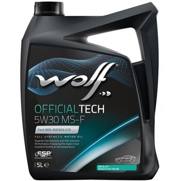 Моторное масло WOLF OFFICIALTECH 5W-30 MS-F 5л
