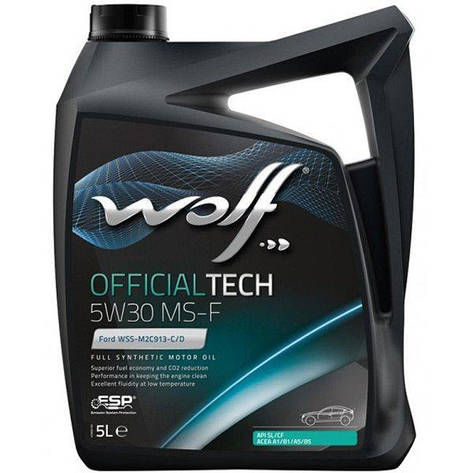 Моторное масло WOLF OFFICIALTECH 5W-30 MS-F 5л, фото 2