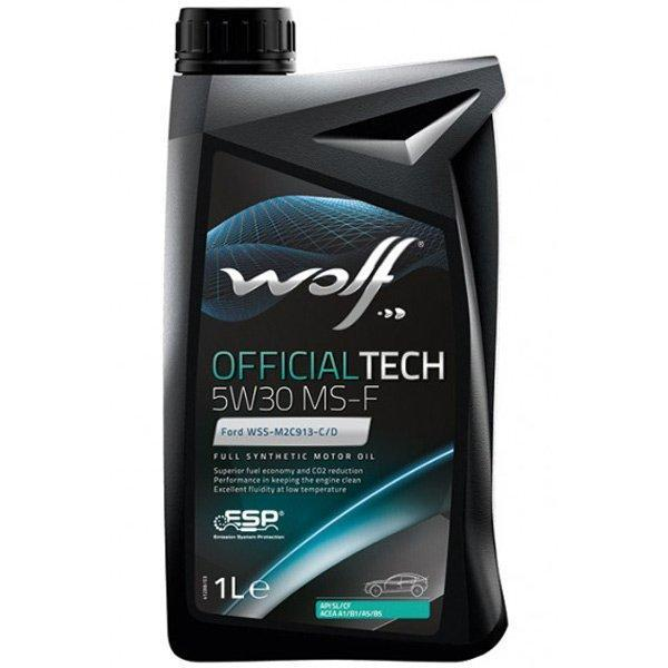 Моторное масло WOLF OFFICIALTECH 5W-30 MS-F 1л