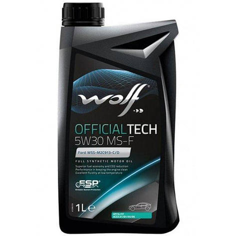 Моторное масло WOLF OFFICIALTECH 5W-30 MS-F 1л, фото 2