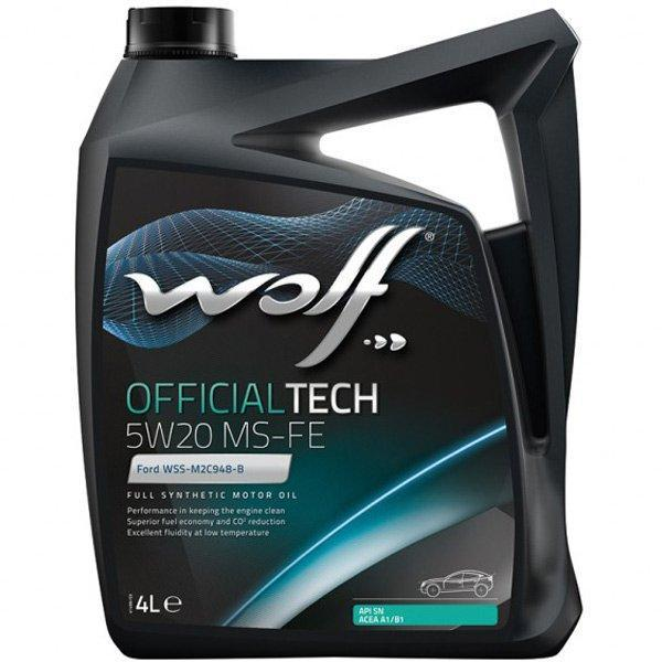 Моторное масло WOLF OFFICIALTECH 5W-20 MS-FE 4л