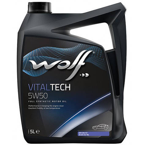 Моторное масло WOLF VITALTECH 5W-50 5л, фото 2