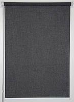 Готовые рулонные шторы Ткань Джинс Чёрный 425*1500