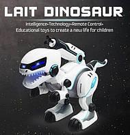 Робот динозавр на радиоуправлении, свет, звук, ездит, стреляет пулями, роботы