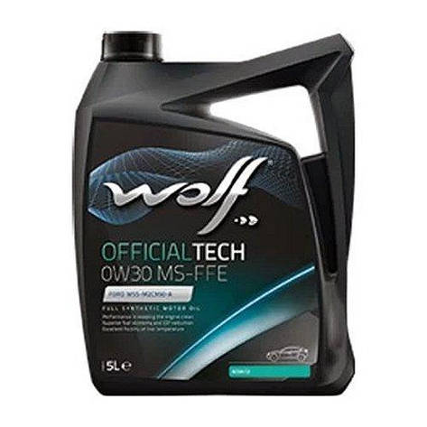 Моторное масло WOLF OFFICIALTECH 0W-30 MS-FFE 5л, фото 2