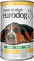 Консерва для Собак EURO DOGс Птицей 1240гр