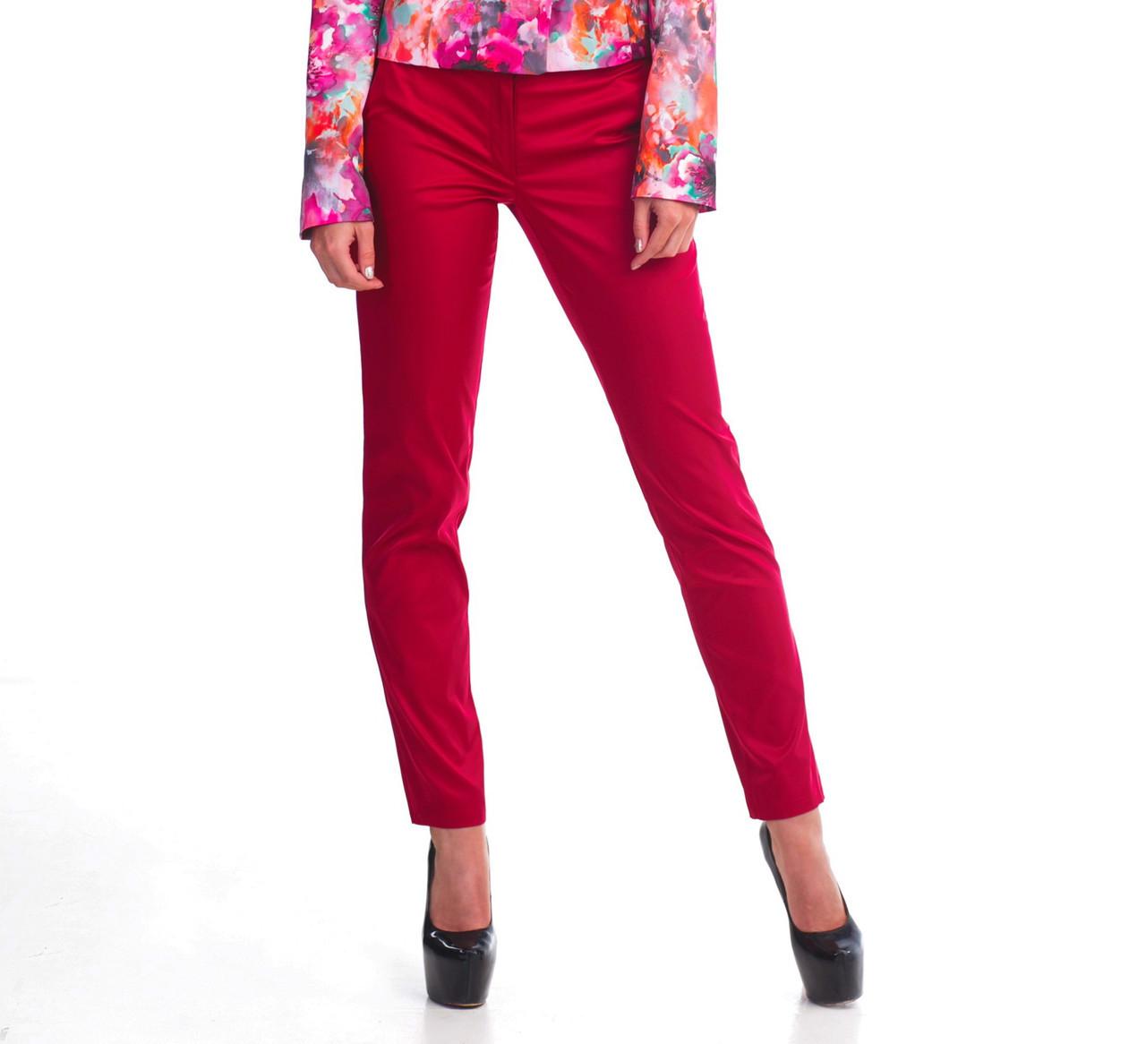 Классические женские брюки бордо