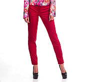 Классические бордовые женские брюки