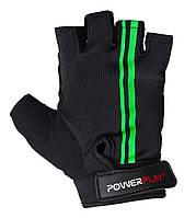 Велоперчатки PowerPlay S Черно-зеленые 5031SBlack-Green, КОД: 977451