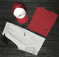 Мужской летний костюм Nike (Найк) комплект 3 в 1 S