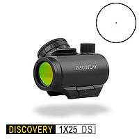 Коллиматорный прицел Discovery 1x25 DS, колиматоры,  крепление Вивер 21мм
