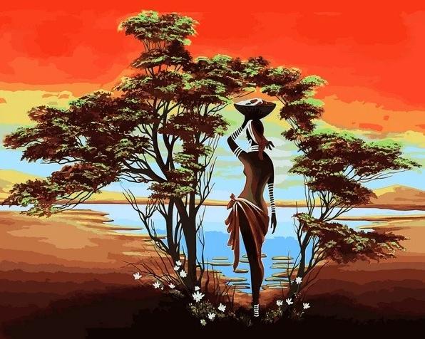 Картина по номерам Оазис, 40x50 см., Babylon