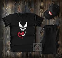 Летний спортивный костюм Venom (футболка, шорты, кепка) + гарантия XS
