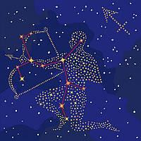 Картина по номерам Идейка Звездный знак 50х50 см Стрелец KH9511, КОД: 1318393