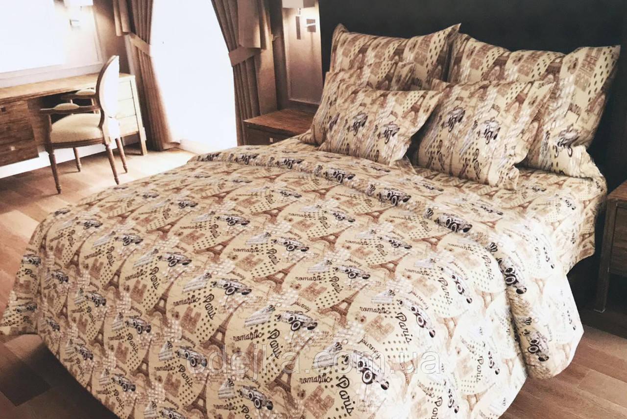 Двуспальный комплект постельного белья евро 200*220 хлопок  (13070) TM KRISPOL Украина