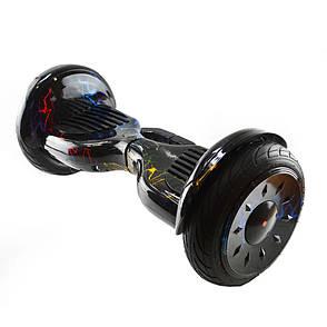 Гироскутер Smart Balance 10,5 c держателем №9 Молния синяя с красным BT + APP + автобаланс, фото 2