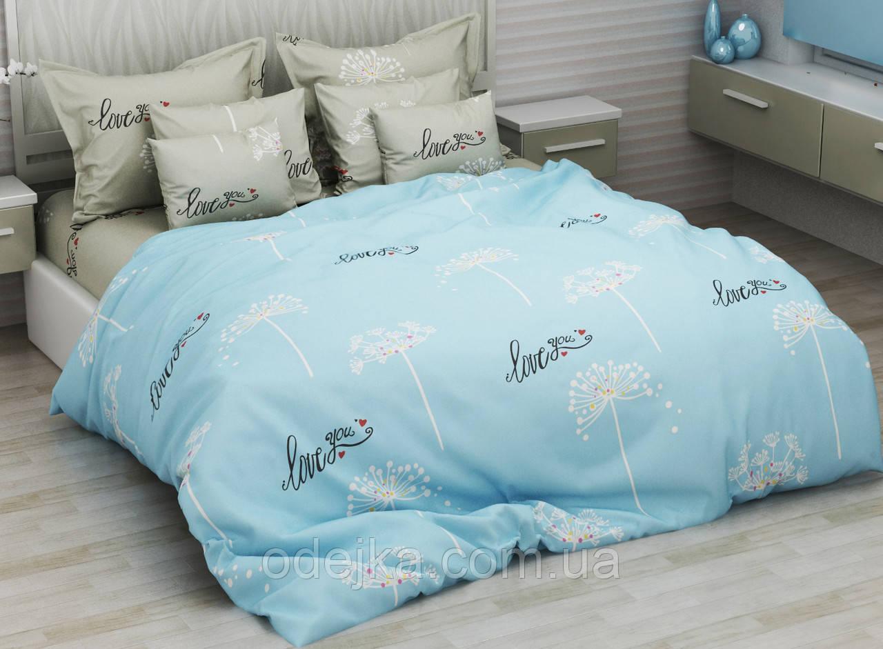 Двуспальный комплект постельного белья евро 200*220 хлопок  (13153) TM KRISPOL Украина