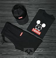 Мужской летний костюм Supreme (Суприм) комплект 3 в 1 S