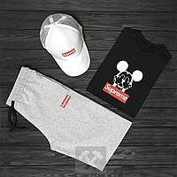 Мужской летний костюм Supreme (Суприм) комплект 3 в 1 2XL
