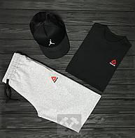 Мужской летний костюм Reebok & Jordan (Рибок и Джордан) комплект 3 в 1