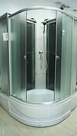Кабина душевая полукруглая 9921 F ECO 90х90х195/ стекло Fabric/ поддон 40cм