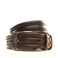 Ремень Lazar кожаный коричневый L35Y1W6 105-115 см