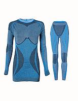 Комплект женского термобелья Haster Alpaca Wool S M Синий, КОД: 124653